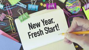 New year, fresh start, new beginnings concept.