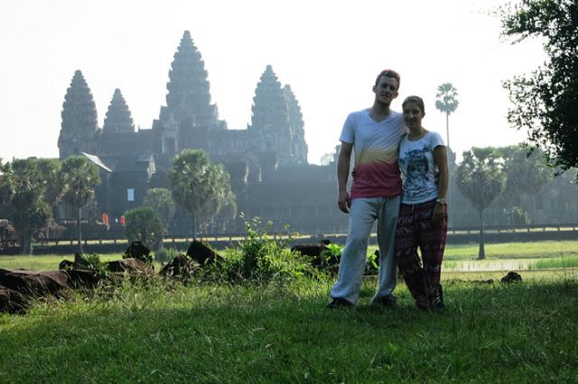 Angkor Wat v jutranjih meglicah (Kambodža)